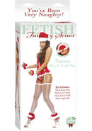 Fetish Fantasy Xmas Plush Cuff Set