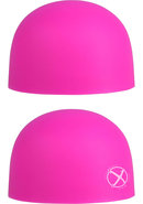 Palm Caps Silicone Massager Heads Pink 2 Each Per Set