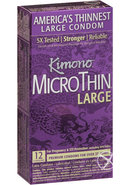 Kimono Microthin Large Condoms 12 Pack
