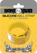 Bone Yard Silicone Ball Strap Stretcher With Snaps Yellow...