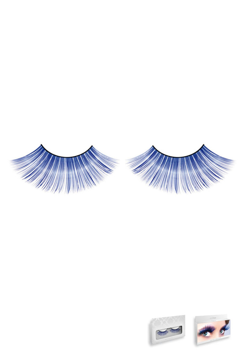 Blue Glitter Eyelashes