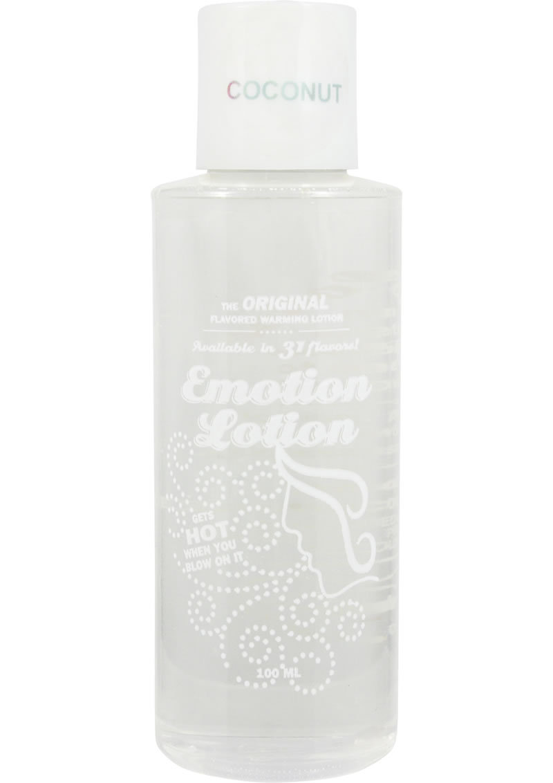 Emotion Lotion Flavored Water Based Warming Lotion Coconut 4 Ounce