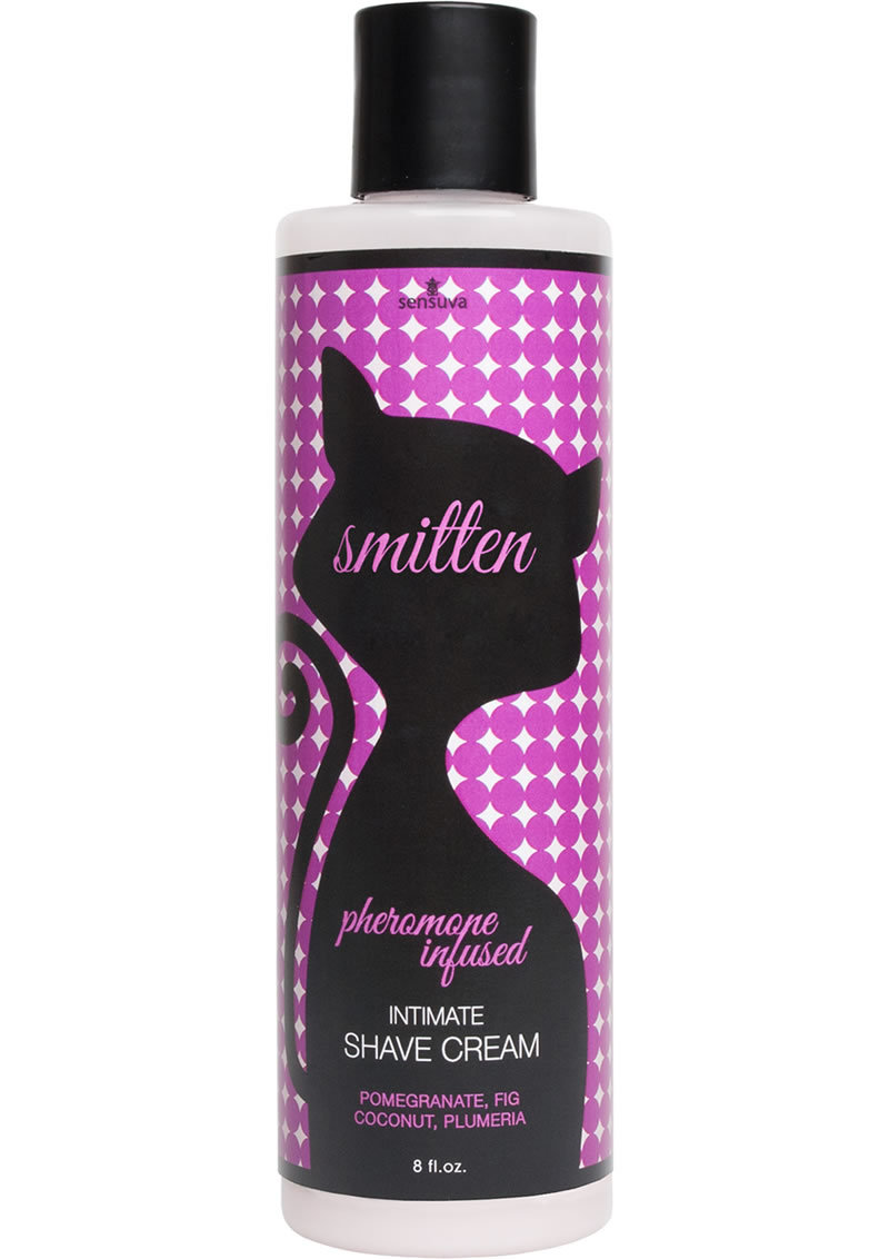 Smitten Pheromone Infused Intimate Shave Cream Pomegranate, Fig, Coconut And Plumeria 8 Ounce