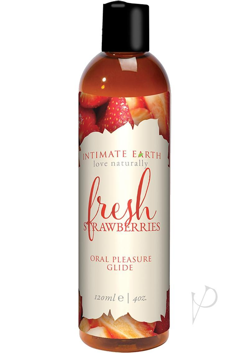 Intimate Earth Oral Pleasure Glide Fresh Strawberries 4 Ounce