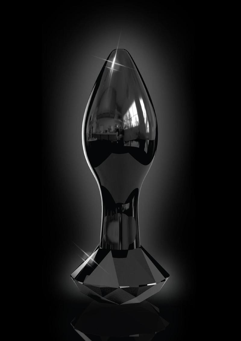 Icicles No 78 Glass Anal Plug Black 2.9 Inch