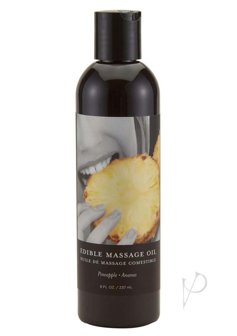 Earthly Body Edible Massage Oil Pineapple 8 Ounce