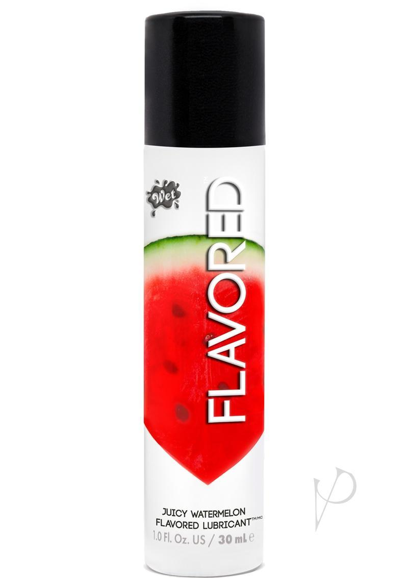 Wet Flavored Water Based Gel Lubricant Watermelon 1 Ounce
